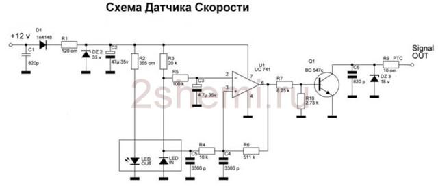 Где находится датчик скорости на Ладе Приора 8 и 16 клапанов: схема