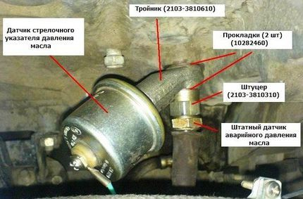 Датчик давления масла ВАЗ 2109 (карбюратор, инжектор): где находится, неисправности