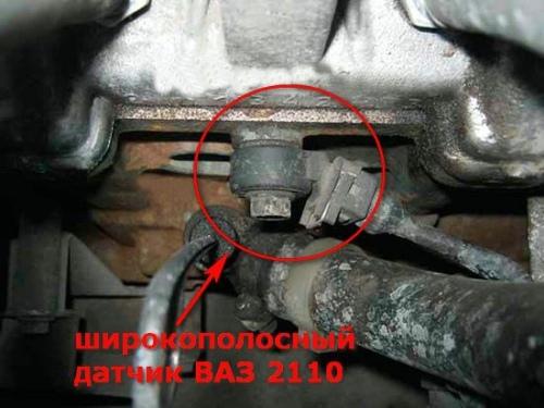 Датчик детонации ВАЗ 2115: где находится и как располагается