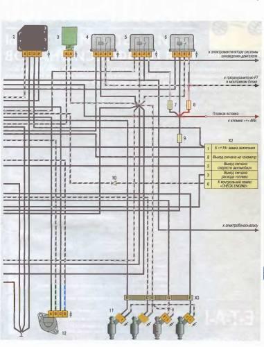 Схема электрооборудования ВАЗ-2105 с описанием: фото