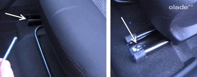 Как снять заднее сиденье на Лада Веста своими руками: видеоинструкция