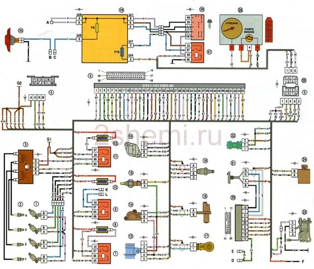 Где находится реле бензонасоса ВАЗ 2110: схема, фото