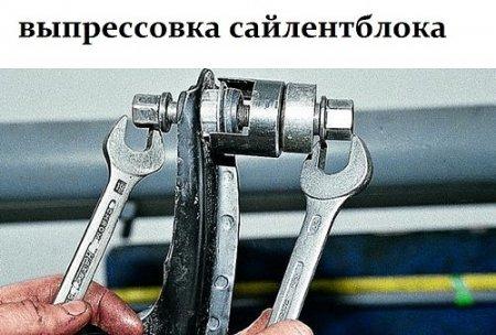 Замена сайлентблоков на ВАЗ 2110 своими руками: видеоинструкция
