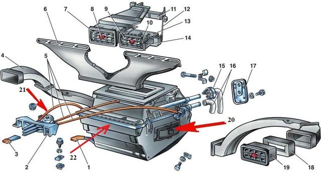 Печка дует холодным воздухом на ВАЗ 2107: причины и ремонт