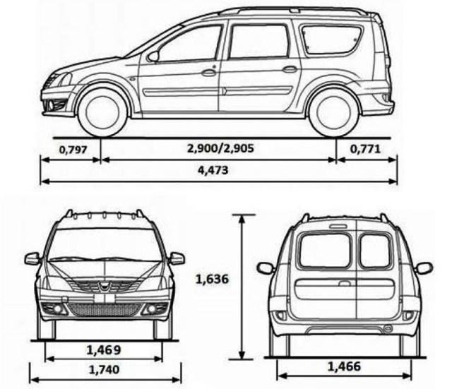 Какой объем топливного бака на Лада Ларгус: технические характеристики